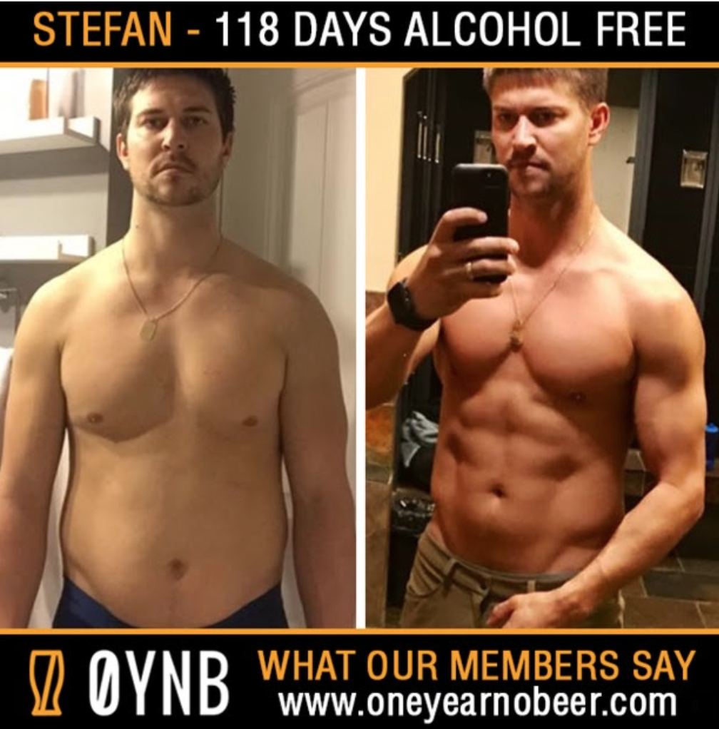 Here's what you'll look like after 118 alcohol-free days