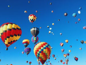 hot air balloons for guided meditation