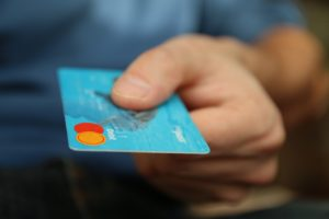 Spending money on alcohol, using credit card
