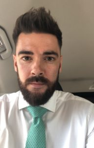 man quits alcohol and focuses on career, in shirt and tie