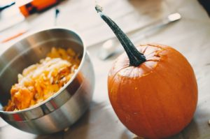 pumpkin on table, pumpkin carving