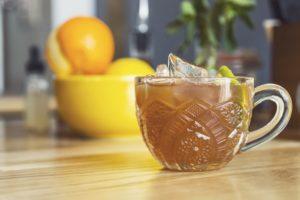 orange cocktail in glass