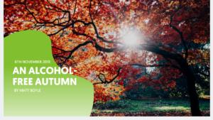 Autumn scene, tree with orange leaves