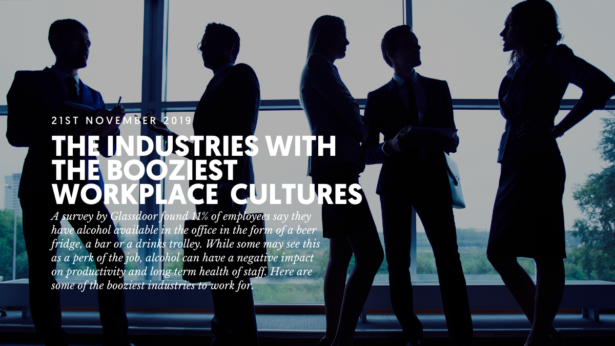 The industries with the booziest workplace cultures