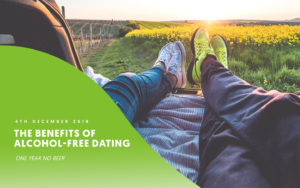 sober dating advice, two people on date