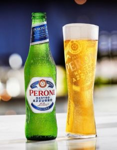 how many calories in a pint of Peroni