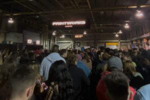 long queues at printworks