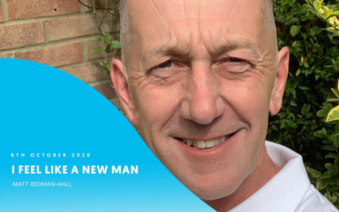 I feel like a new man – Matt Redman-Hall