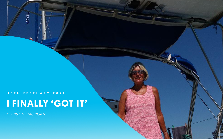 "I finally ""got it"" – Christine Morgan"